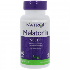 Melatonina NATROL Time Relaease (Liberação Lenta) 3 MG - 100 tabletes