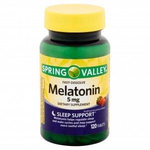 Melatonina Spring Valley 5mg 120 Comp Fast Dissolve Sabor Morango