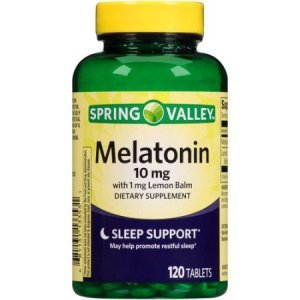 Melatonina Spring Valley 10mg 120 Comp c/ 1mg de Erva-Cidreira