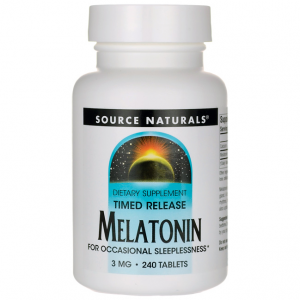 Melatonina Source Naturals Timed Release 3,0mg 240 Tabletes (Liberação Gradual)