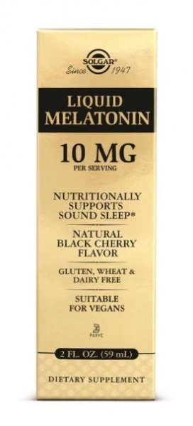Melatonina Liquida Solgar 10mg 59 ML Natural Black Cherry Flavor