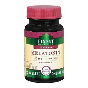 Melatonina Finest Nutrition 10mg 60 Tabletes Sleep Aid (liberação Rápida)