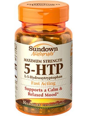5-HTP Sundown Naturals 200 Mg Maximum Stenght 30 Cápsulas
