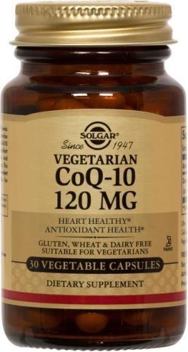 Coenzima Q-10 Vegetais Solgar 120 Mg 30 + 10 Cápsulas Bônus