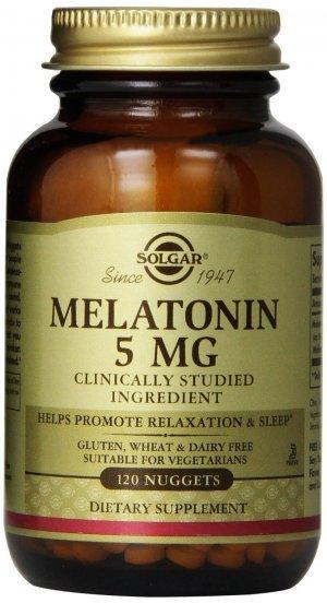 Melatonina Solgar 5 mg 120 Nuggets (Vegetais)