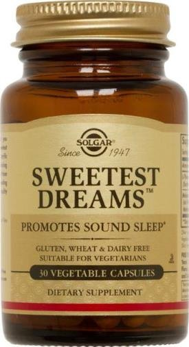Melatonina Solgar SweetTest Dreams 3 mg c/ 100 mg de L-Tiamina 30 Cápsulas (Vegetais)