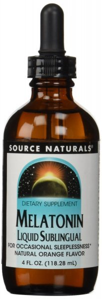 Melatonina Liquida SubLingual Source Naturals 118,28 ML Sabor Laranja