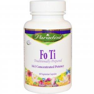 FO TI Paradise Herbs Anti-Envelhecimento Redutor de Cabelos Brancos 60 Cápsulas Vegetais 500mg