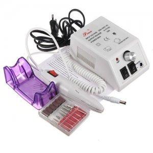 Lixa De Unhas Elétrica Lina Com Acessórios p/ unhas Gel, Fibra, Porcelana e Naturais 110v