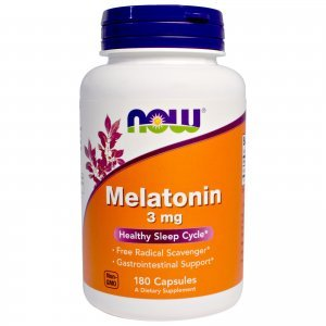 Melatonina Now Foods 3 Mg 180 Caps Health Sleep