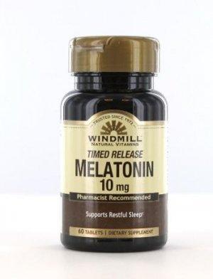 Melatonina WindMill 10 Mg 60 Tabletes Time Release