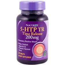 5-HTP Natrol 200Mg Time Release com Cálcio 30 Tabletes