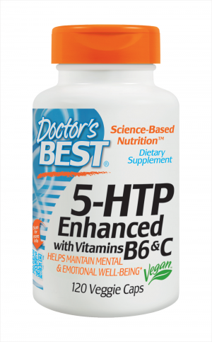 5-HTP Dr Best 100 Mg Vegetais 120 Cáps c/ Vitaminas B6 e C