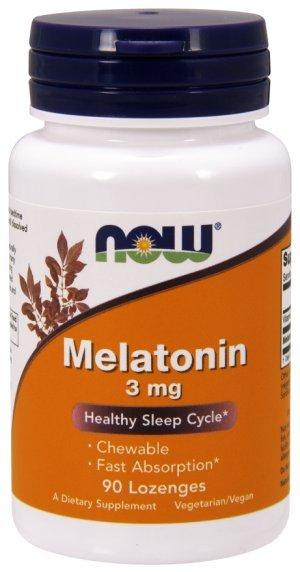 Melatonina Now Foods Rápida Aborção 3 Mg 90 Comp Mastigáveis + Vit B6