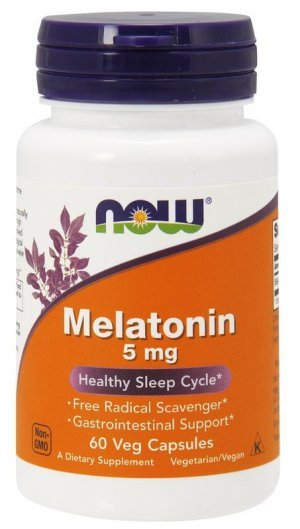 Melatonina Now Foods 5 Mg 60 Comp c/ Proteção Gastroinstestinal