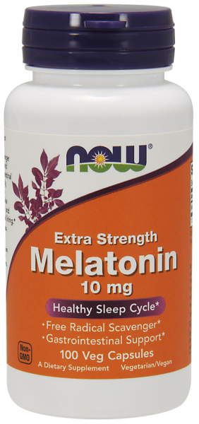 Melatonina Now Foods 10 Mg 100 Comp c/ Proteção Gastroinstestinal (Vegetais)