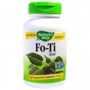 FO TI Natures Way Anti-Envelhecimento Redutor de Cabelos Brancos 100 Cápsulas Vegetais 610 mg