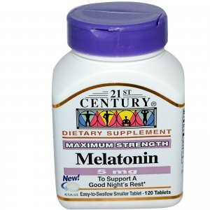 Melatonina 21St Century 5 MG 120 Comprimidos Maximum Strength