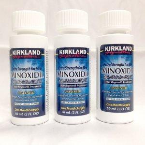 Kit Minoxidil 5% Tratamento para 3 Meses - 3 Frascos de 60 ML cada = 180 ML (Com Aplicador)
