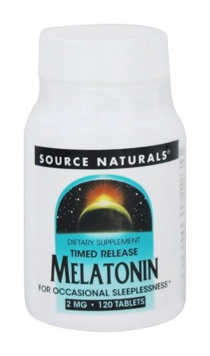 Melatonina Source Naturals 2,0mg Time Release Vegetais 120 Tabletes