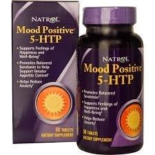 5-HTP Natrol 50Mg Mood Positive comVit B12, B6, L-Tianina e Ácido Fólico 50 Tabletes