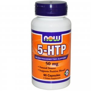 5-HTP Now Foods 50 Mg Vegetais 90 Cápsulas c/ Amino Ácidos