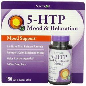 5-HTP Natrol 100Mg Mood & Relaxation C/ Cálcio 150 Tabletes