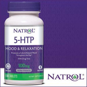 5-HTP Natrol 100Mg Mood & Relaxation C/ Cálcio 150 Tabletes