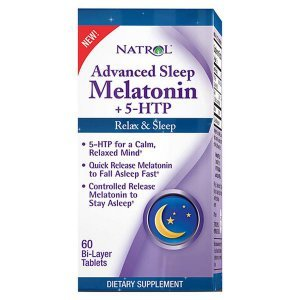 Melatonina + 5-HTP Natrol Advanced Sleep Triple Action 60 Tabletes