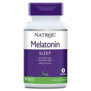 Melatonina NATROL 1 MG + Vit B6 - 90 tabletes