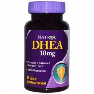 DHEA Natrol 10 MG Com Cálcio - 30 Tabletes