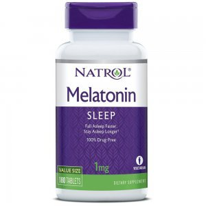 Melatonina NATROL 1 MG + Vit B6 - 180 tabletes
