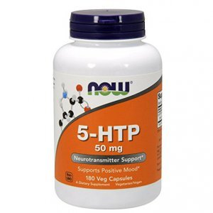 5-HTP Now Foods 50 Mg Vegetais 180 Cápsulas c/ Amino Ácidos