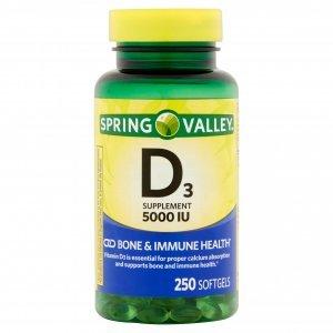 Vitamina D3 5.000 Ui Spring Valley 250 Softgel