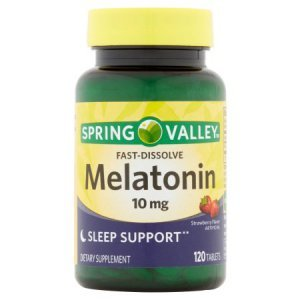 Melatonina Spring Valley 10mg 120 Comprimidos - Fast Dissolve - Sabor Morando