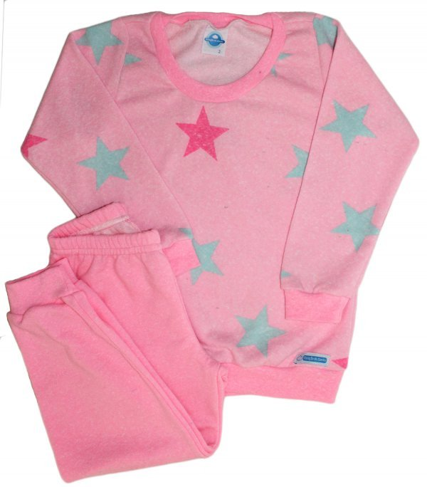 Pijama Feminino Fleece Rosa