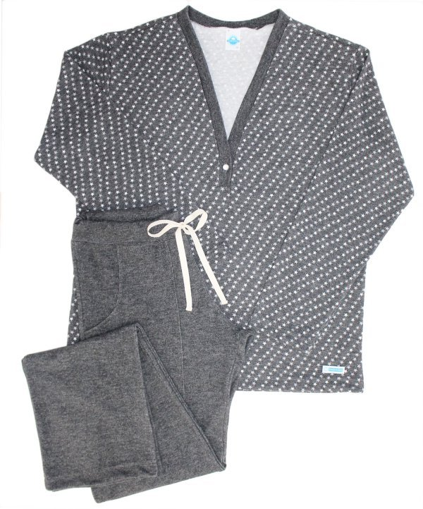 Pijama Feminino Estrelinha Black - Adulto