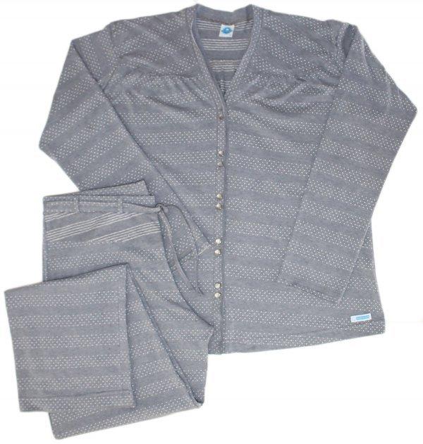 Pijama Cinza com Abertura - Algodão