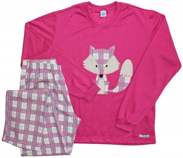 Pijama Pink Fox - Flanelado Tam GG