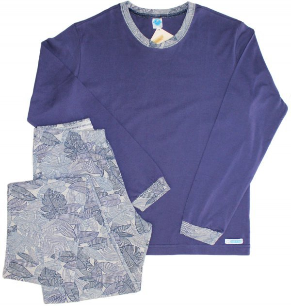 Pijama Folhagem Azul