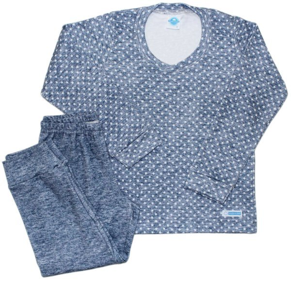 Pijama Feminino Estrela Azul Suedine