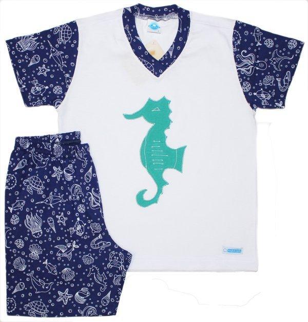 Pijama Masculino Fundo do Mar - Infantil
