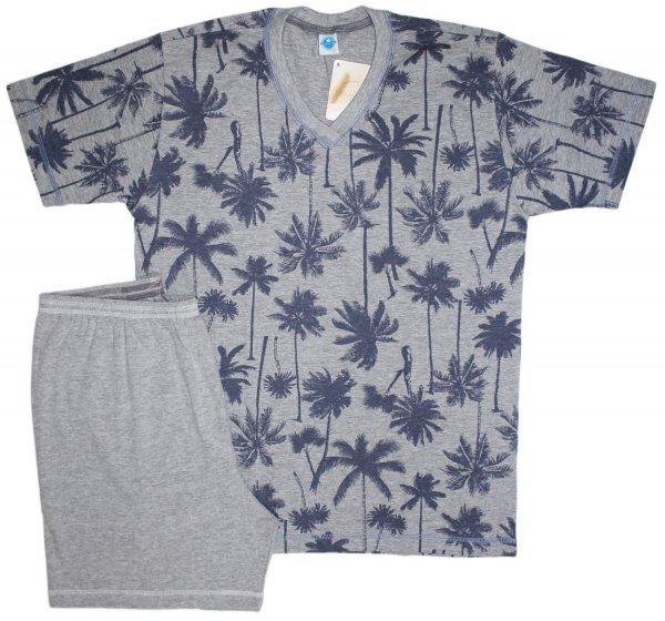 Pijama Masculino Coqueiro Denim com Mescla