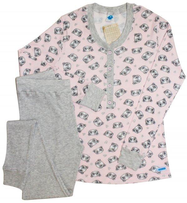 Pijama Urso Canelado Rosa
