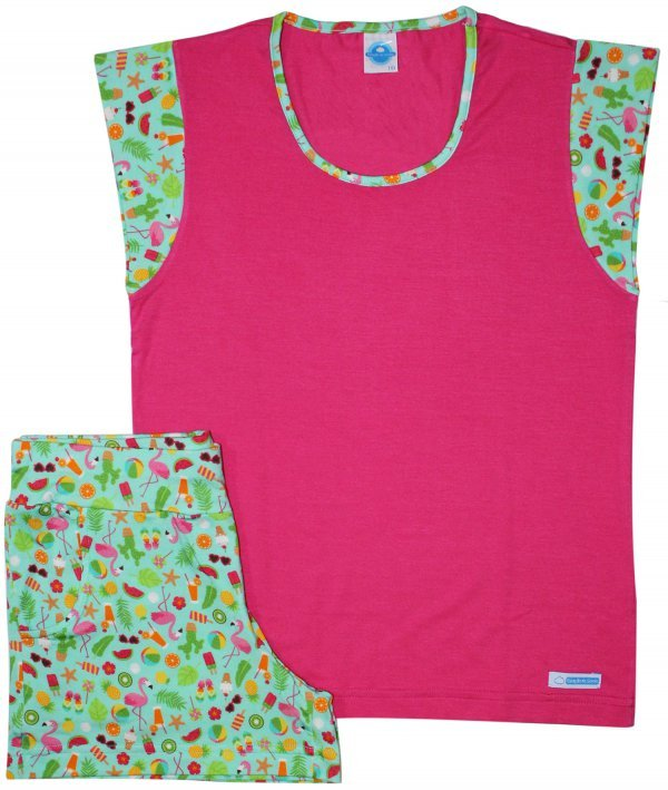 248797c37 Pijama Flamingo Visco - Infantil