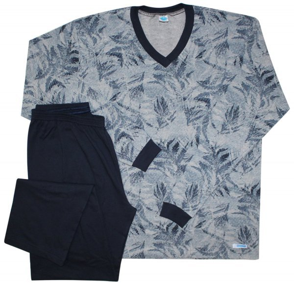 Pijama Masculino Folhagem Marinho