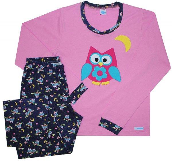 Pijama Feminino Corujice Inverno
