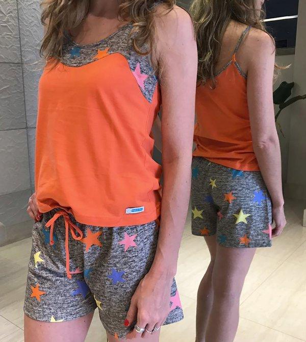 Pijama Feminino Estrelado