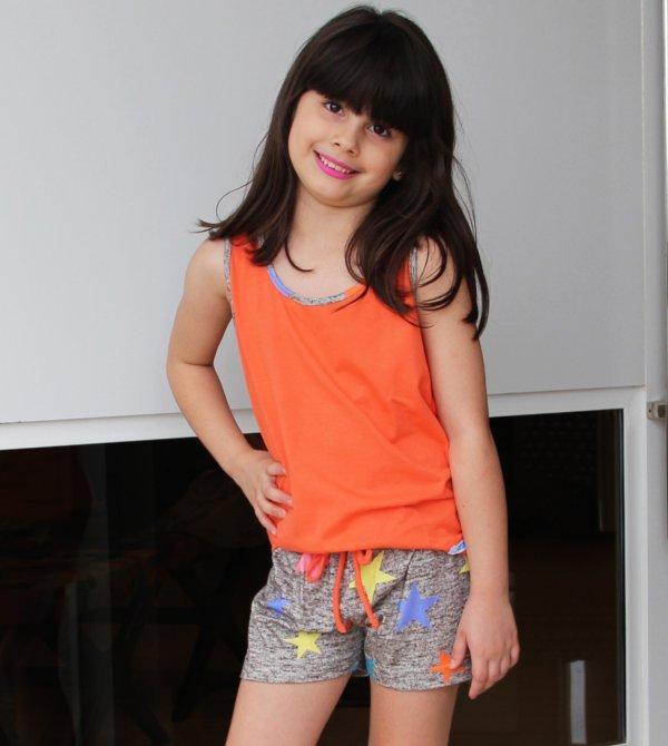 Pijama Feminino Estrelado - Infantil