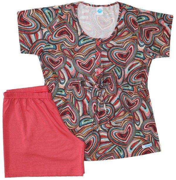 Pijama Gestante Corações